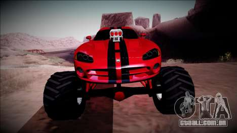 Dodge Viper SRT10 Monster Truck para vista lateral GTA San Andreas
