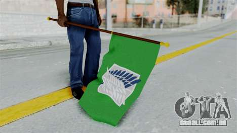 Attack On Titan Survey Crops Flag para GTA San Andreas