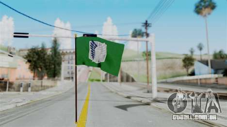 Attack On Titan Survey Crops Flag para GTA San Andreas segunda tela