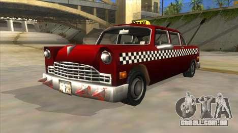 GTA3 Borgnine Cab para GTA San Andreas vista direita