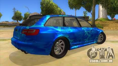 Audi RS6 Blue Star Badgged para GTA San Andreas vista direita