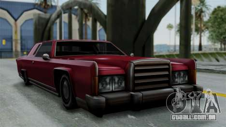 Remington Las Vivas para GTA San Andreas traseira esquerda vista