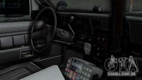 Chevrolet Impala 1985 SFPD para GTA San Andreas vista direita