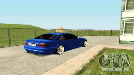 BMW M3 E46 para GTA San Andreas vista superior