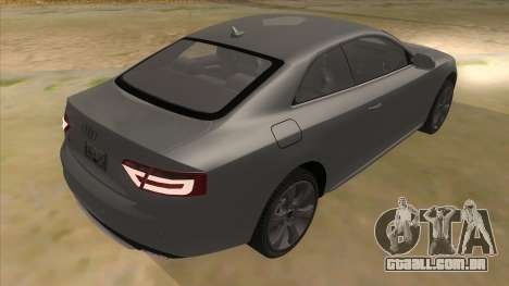 Audi S5 Sedan V8 para GTA San Andreas vista direita