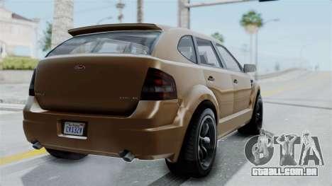 GTA 5 Vapid Radius para GTA San Andreas esquerda vista