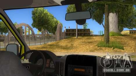 Mercedes-Benz Sprinter INEM Ambulance para GTA San Andreas vista interior