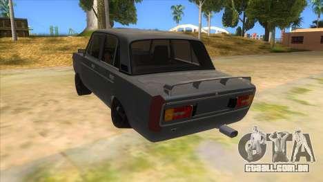 VAZ 2106 Drift Edition para GTA San Andreas traseira esquerda vista