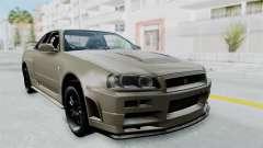 Nissan Skyline GT-R R34 2002 F&F4 Damage Parts para GTA San Andreas