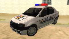 Dacia Logan Romania Police para GTA San Andreas