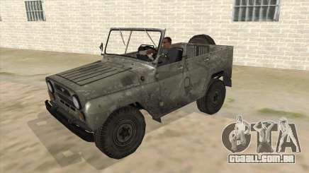 UAZ-469 Old Green Rust para GTA San Andreas