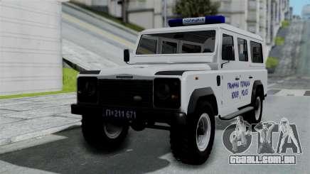 Land Rover Defender Serbian Border Police para GTA San Andreas