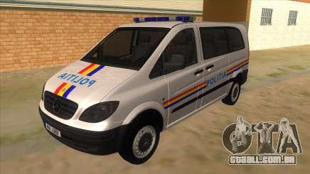 Mercedes Benz Vito Romania Police para GTA San Andreas