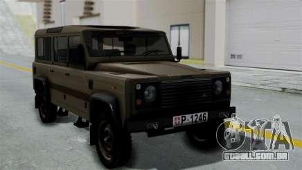 Land Rover Defender Vojno Vozilo para GTA San Andreas