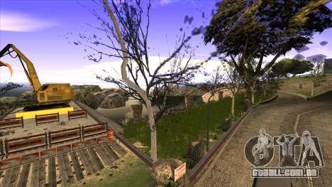 A construção da ponte, e uma densa floresta para GTA San Andreas oitavo tela