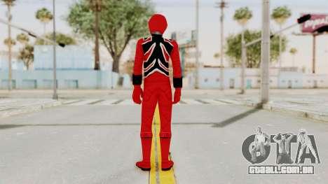Power Rangers Jungle Fury - Red para GTA San Andreas terceira tela