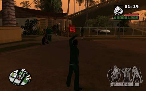 CJ Animation ped para GTA San Andreas terceira tela