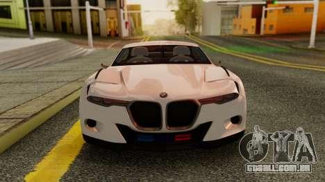 2015 BMW CSL 3.0 Hommage R para GTA San Andreas traseira esquerda vista