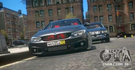 BMW 435i Coupe para GTA 4 esquerda vista