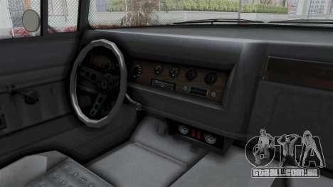 GTA 5 Declasse Tornado No Hifi and Hydro para GTA San Andreas vista interior