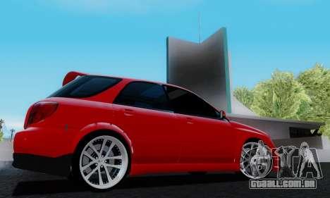 Subaru Impreza WRX STi Wagon Fox 2007 para GTA San Andreas vista direita