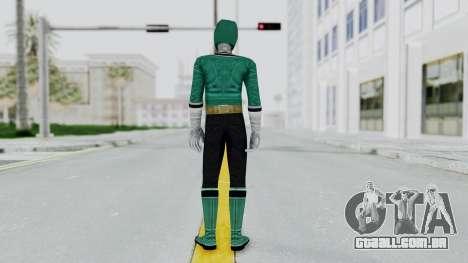 Power Rangers Samurai - Green para GTA San Andreas terceira tela
