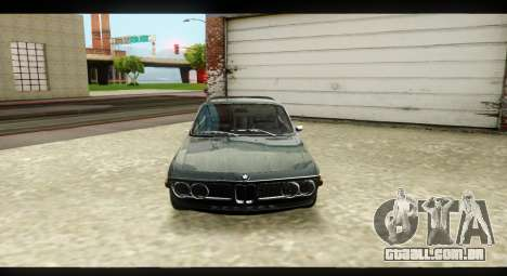 BMW 3.0 CSL para GTA San Andreas vista interior