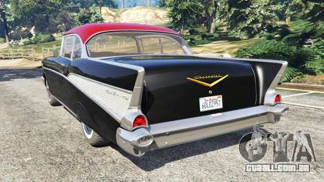 GTA 5 Chevrolet Bel Air Sport Coupe 1957 v1.5 traseira vista lateral esquerda