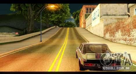 BMW 3.0 CSL para GTA San Andreas traseira esquerda vista