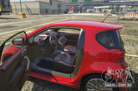 GTA 5 2011 Aston Martin Cygnet 1.0 [Replace] traseira vista lateral esquerda