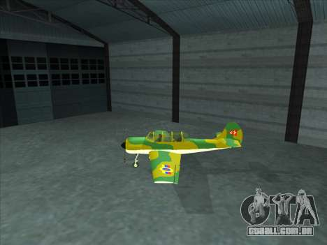 Yak-52 para GTA San Andreas esquerda vista