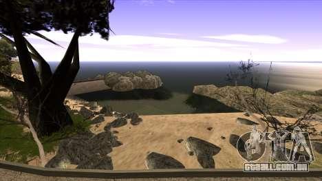 A construção da ponte, e uma densa floresta para GTA San Andreas décima primeira imagem de tela
