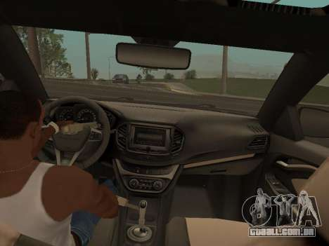 Lada Vesta para GTA San Andreas vista direita