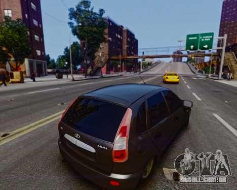 Lada Kalina para GTA 4 vista de volta