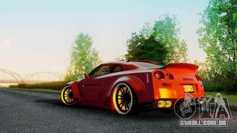 Nissan GTR-R35 Liberty Walk LB performance para GTA San Andreas esquerda vista