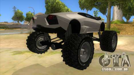 Lamborghini Reventon Monster Truck para GTA San Andreas vista direita