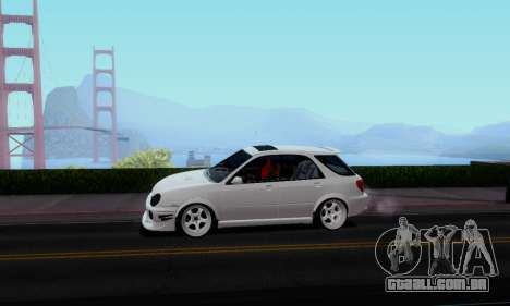 Subaru Impreza WRX STi Wagon Stens para GTA San Andreas traseira esquerda vista
