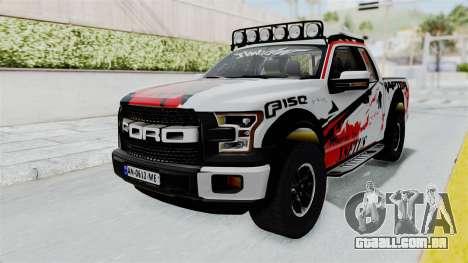 Ford F-150 Raptor 2015 para GTA San Andreas vista direita