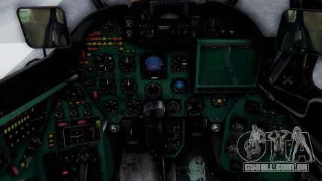 Mi-24V Croatian Air Force H-035 para GTA San Andreas vista traseira