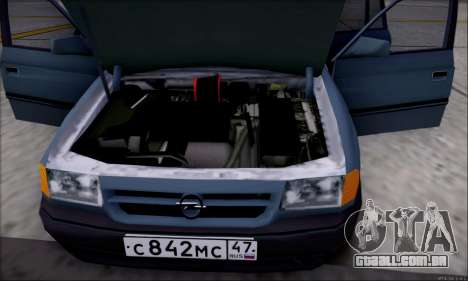 Opel Astra para GTA San Andreas interior