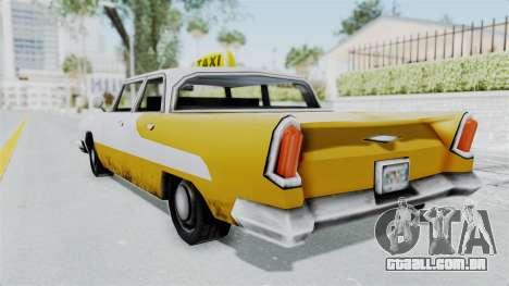 GTA VC Oceanic Taxi para GTA San Andreas esquerda vista