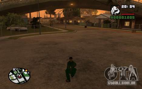 CJ Animation ped para GTA San Andreas quinto tela