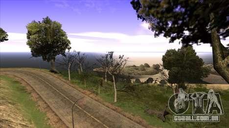 A construção da ponte, e uma densa floresta para GTA San Andreas por diante tela