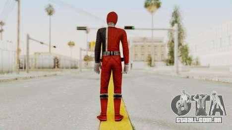 Power Rangers S.P.D - Red para GTA San Andreas terceira tela