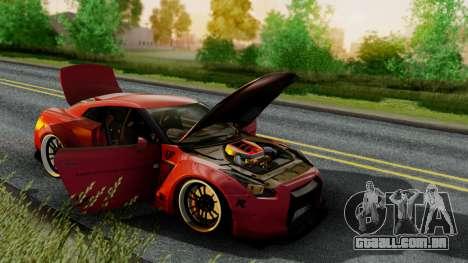 Nissan GTR-R35 Liberty Walk LB performance para GTA San Andreas traseira esquerda vista