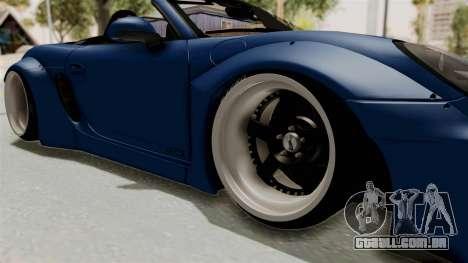 Porsche Boxster Liberty Walk para GTA San Andreas vista traseira
