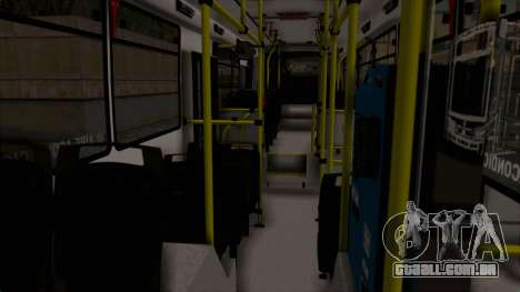 Todo Bus Pompeya II Agrale MT15 Linea 71 para vista lateral GTA San Andreas