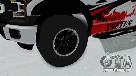 Ford F-150 Raptor 2015 para GTA San Andreas vista traseira