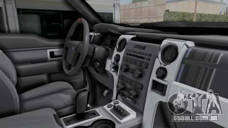 Ford F-150 Raptor 2015 para GTA San Andreas vista interior