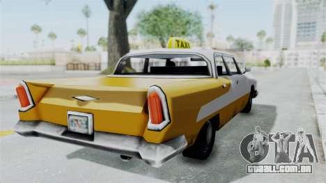 GTA VC Oceanic Taxi para GTA San Andreas traseira esquerda vista